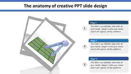 Three levels creative ppt slide design
