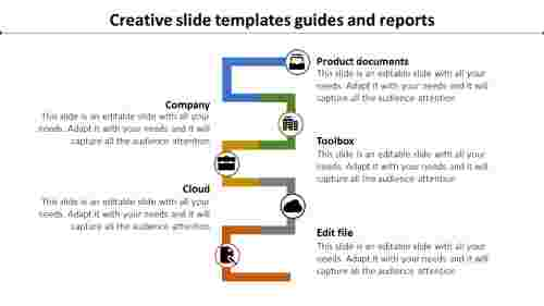 creative slide templates-Creative slide templates guides and reports