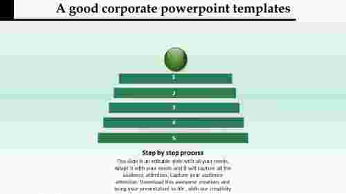 corporate powerpoint templates-step by step process