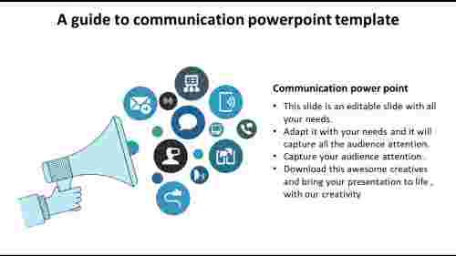 Communication PowerPoint Template With Icons - Marketing