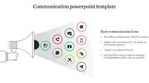 Creative communication powerpoint template