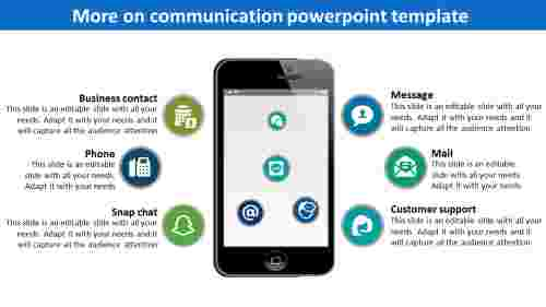 Communication powerpoint template-Phone Diagram