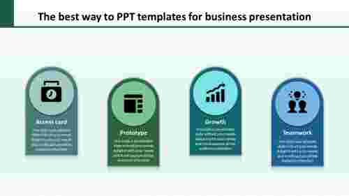 Horizontal PPT templates for business presentation