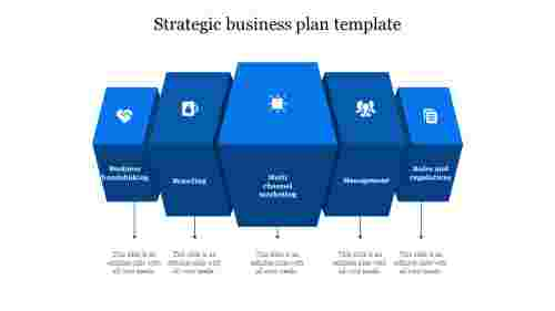 strategic business plan template-Blue