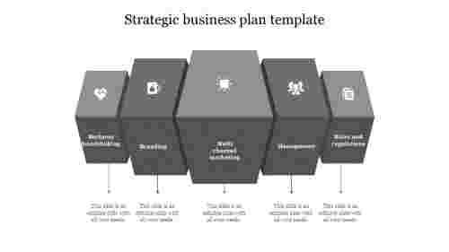 strategic business plan template-Gray