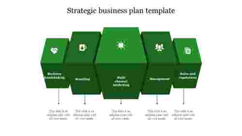 strategic business plan template-Box design