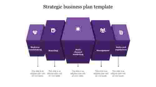 strategic business plan template-Purple