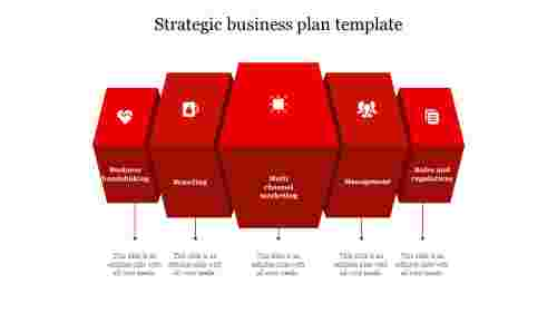 strategic business plan template-Red