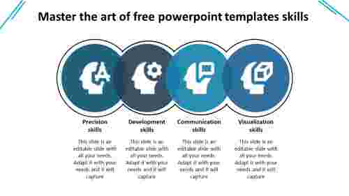 Non circular free PowerPoint template