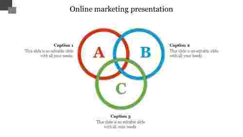 Onlinemarketingpresentationwithcircledesign
