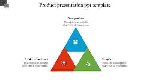 Product%20Presentation%20PPT%20Template%20With%20Triangle%20Design