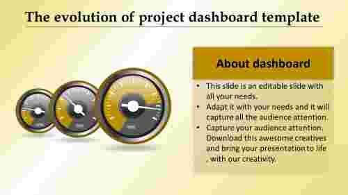 project dashboard template with abstract image
