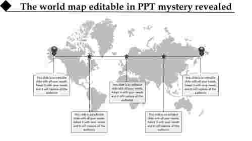world map editable in PPT