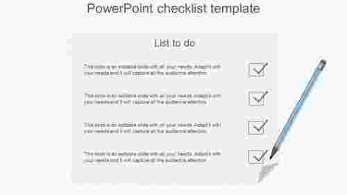 Notepad Model Powerpoint Checklist Template