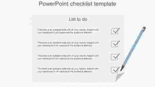 NotepadModelPowerpointChecklistTemplate