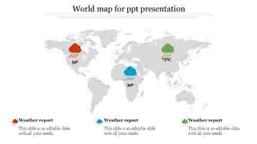 world map for ppt presentation-Weather report
