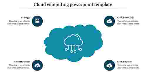 cloud computing powerpoint template design