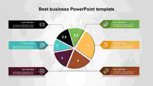 Best business PowerPoint templates in pie chart