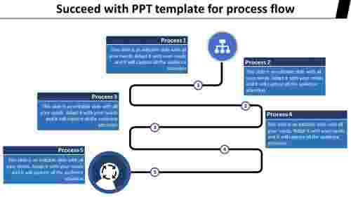 Zigzag powerpoint template for process flow
