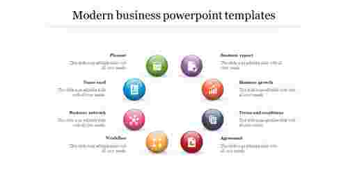 modern business powerpoint templates with circle design