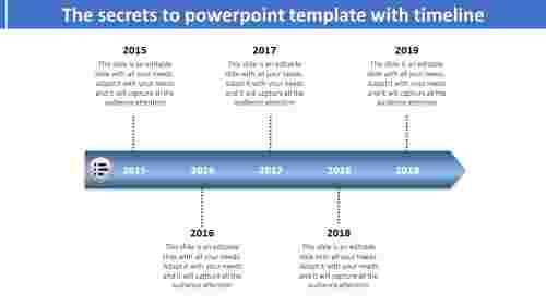 easily accessable powerpoint template with timeline