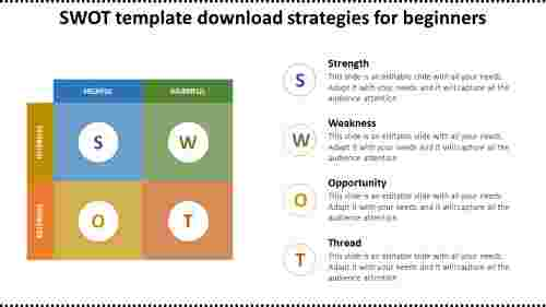 square model SWOT template download