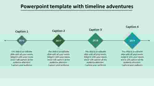 powerpoint template with timeline affixed