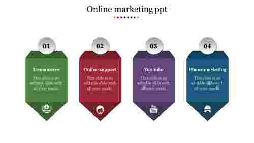 Creative online marketing presentation template