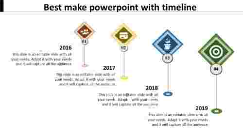 simple powerpoint with timeline
