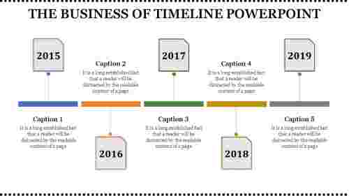 ordered timeline powerpoint design