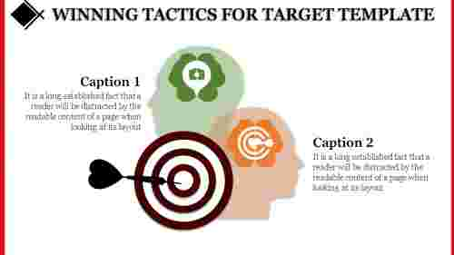 Target template powerpoint in 2 Process