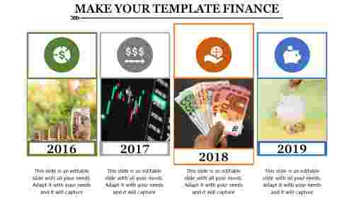 Template PowerPoint finance investment