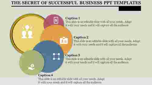 Goals of business PPT template