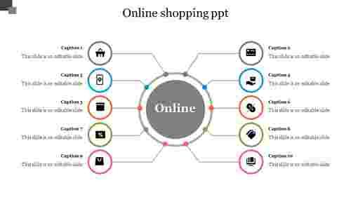 OnlineShoppingPPT-Circularspokes