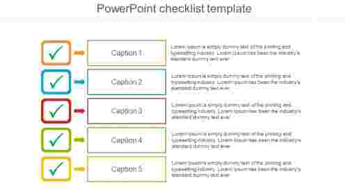 PowerPoint checklist template-straight model