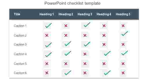 TableformatPowerPointchecklisttemplate