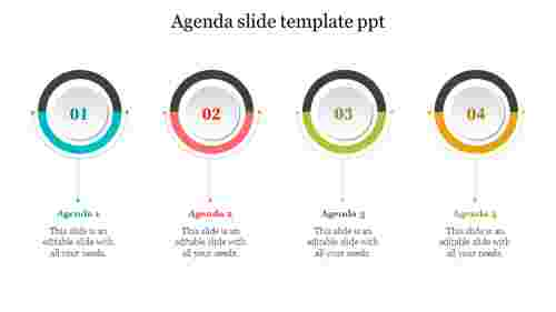 Creative agenda slide template ppt