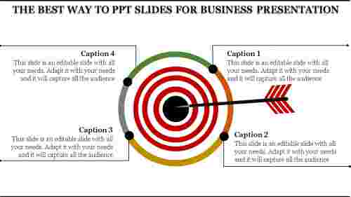 PPT Slides For Business Presentation - 4 Parts