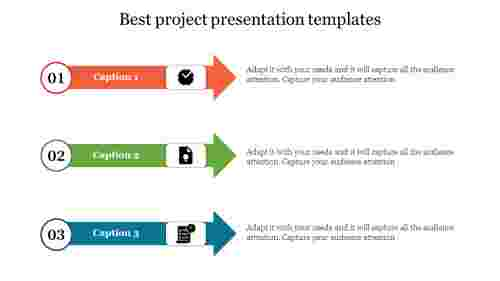 best project presentation templates with arrow shape