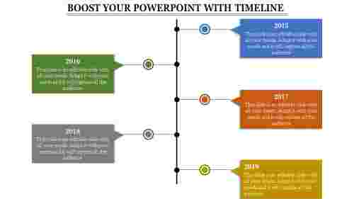 systematical powerpoint with timeline