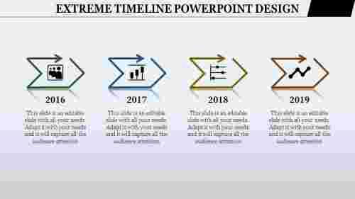 timeline powerpoint design - editable