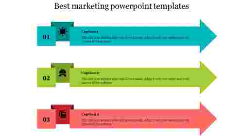 Best Marketing Powerpoint Templates With Arrow Shaped