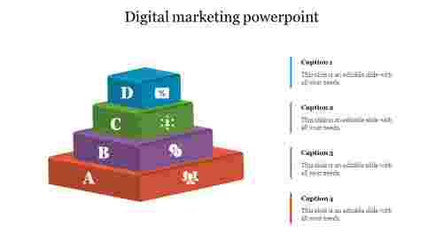 Four Stages Digital Marketing Powerpoint