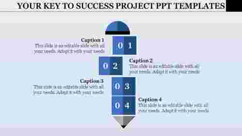 Vertical project PPT template model