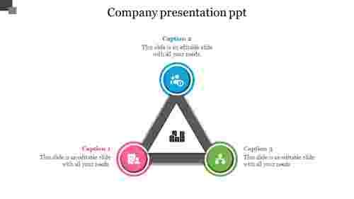 Triangle shape company presentation PPT