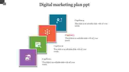 Digital%20Marketing%20Plan%20PPT%20With%20Overlap%20Model