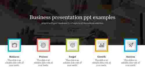 business presentation PPT examples slide