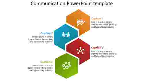 Communication PowerPoint template slide