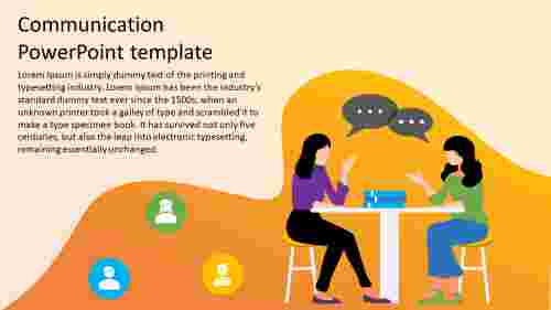communication powerpoint template model