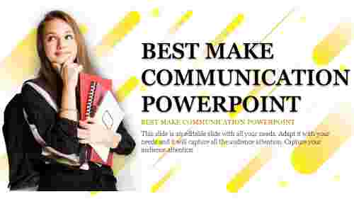 Portfolio communication powerpoint template